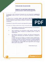 Comunicato Trasferimento Volontario Individuale 2014_Graduatorie Provvisorie