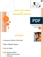 Quality of Work in Insurance Sector