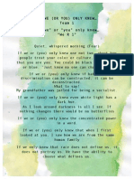 """""""If We Only Knew"""" Day of Dialogue Poetry"""