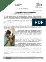 03/03/14 LA LECHE MATERNA CONTIENE 640 NUTRIENTES QUE PROTEGEN AL RECIÉN NACIDO