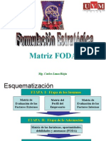 Marketing Estratégico 2009 - Formulación Estratégica(FODA)