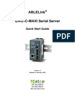 Atop GW51C-Maxi Serial Server Quick Start Guide(V1.3)