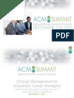 ACM Summit Change Management Presentation
