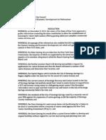Resolution - Upstate Gaming Economic Development Act