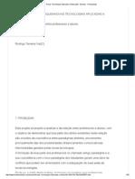 pre projeto Novas Tecnologias Aplicadas A Educação - Exames - Rodrigotvaz