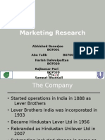 Marketing Research- HLL to HUL