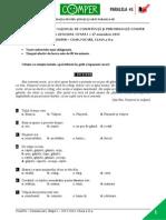 Subiect LimbaRomana EtapaI 13-14 ClasaII