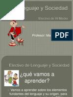 presentación curso de lenguaje y sociedad