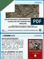 Susceptibilidad por Movimientos en masa en la cuenca camana Majes Colca