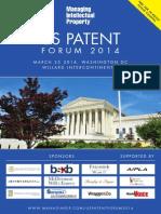Agenda - Managing IP US Patent Forum 03.25.2014
