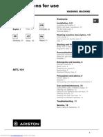 Avtl 104 Instructions for Use