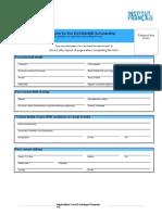 Application Form Exchange Program 0