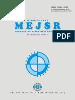 Dr. Abd El-Monem Sharaf Et Al MEJSR 2013
