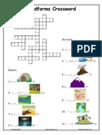 Landforms Crossword