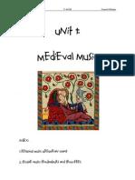 Unit1.Medieval Music