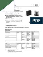 Omron G2R 14 DC12 Datasheet