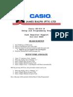 Casio Se s10 m Setup Steps 1 2