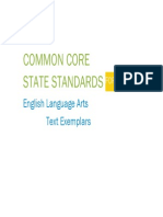 "Common Core ""state"" Standards English Language Arts Exemplars"