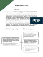 Administracion de Cartera Informacion Del Curso 2014