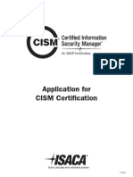 CISM Application
