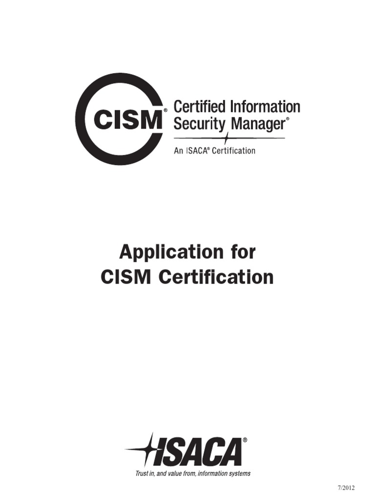 Cism application information security risk management 1betcityfo Choice Image