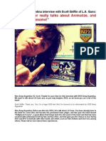 Kiss Army Argentina Interview - Scott Griffin - March 2014