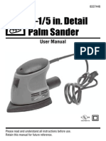 Palm Sander User Manual