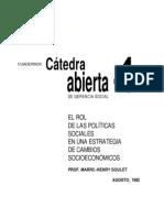 1992 Soulet - Rol de PS en Estrategia de Cambios Socioeconomicos