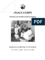 Peace Corps OIG 2005 SARC report