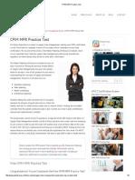 CPIM MPR Practice Test 15 Questions