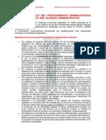 Modificaciones Administrativas-ley Silencio Administrativo