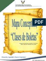 "Mapa Conceptual, describa las ""Clases de Boletas"""