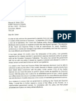 Premier Alison Redford's letter to Alberta's Auditor General