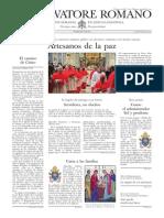 L´OSSERVATORE ROMANO - 28 Febrero 2014