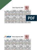 Fixture Copa Inca 2014