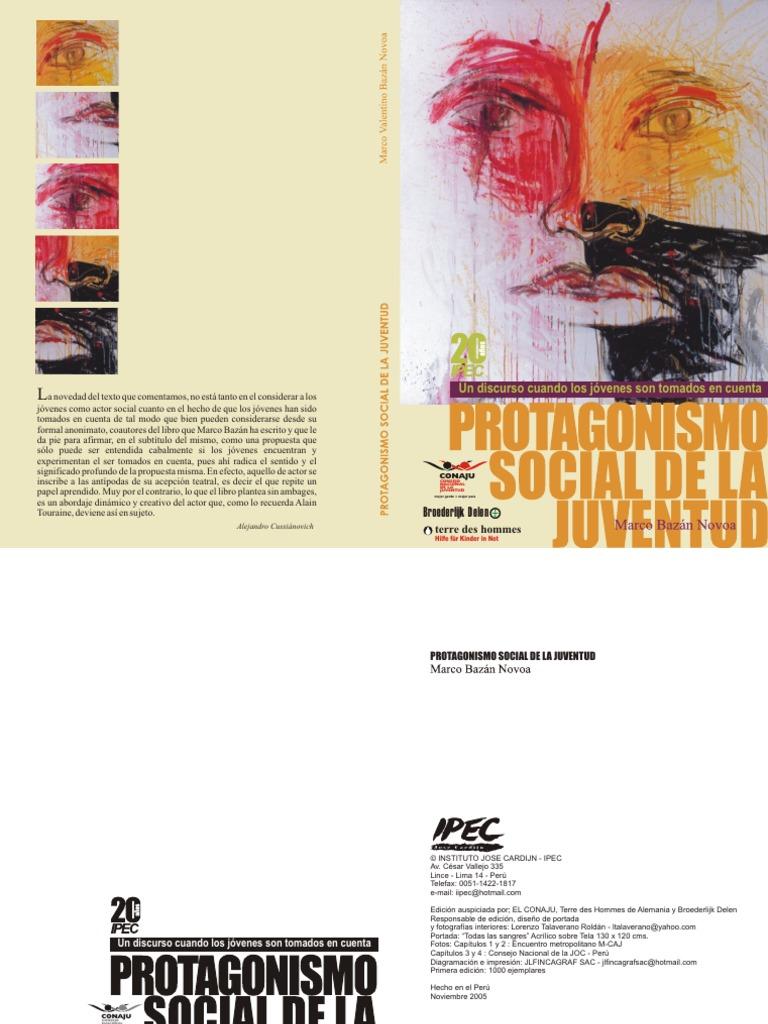 Libro Protoganismo Social de La Juventud, Marco Bazan