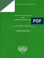 Convenio Internacional de Arqueo de Buques -Omi 1969