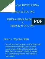 Jury charge - McDarby v. Merck (2008)