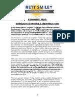 Brett Smiley's PEDP Reform Plan