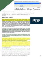 Manual Básico da Mulher SUD_ Manual Básico para Mulheres, Parte B Lição 32_ Como Estabelecer Metas Pessoais e Familiares