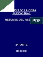 Tema 4. Análisis de la obra audiovisual.2ª parte Breve