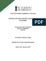 Entonacion en Colombia
