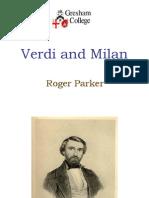 Verdi and Milan