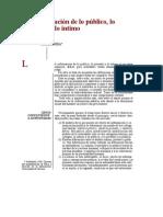 La Informacion de Lo Publico Lo Intimo y Lo Privado