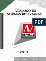 Catalogo de Normas de Ibnorca 2013