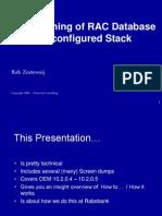 Provisioning of RAC Database on Configured Stack - SIG
