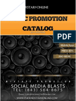 2014  Music Promo Catalog for Phoenixstar9Online Promotions.