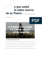 9 Cosas Que Usted Necesita Saber Acerca de Su Pastor