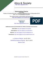 Block, Fred - Democratizing Finance