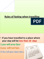 Rules of Fasting When Travelling